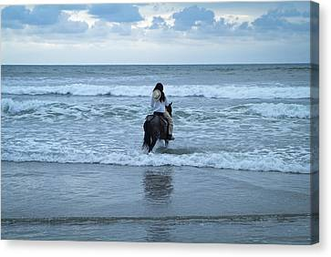 Canvas Print featuring the photograph Into The Ocean by Lana Enderle