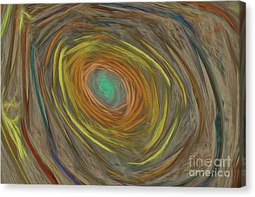 Generative Canvas Print - Into The Rabbit Hole by Deborah Benoit