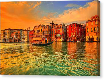 Into The Sunset Canvas Print by Midori Chan
