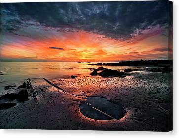 Into The Sunset Canvas Print by ?orsteinn H. Ingibergsson