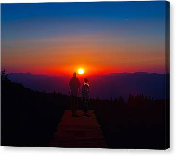 Into The Sunset Together Canvas Print