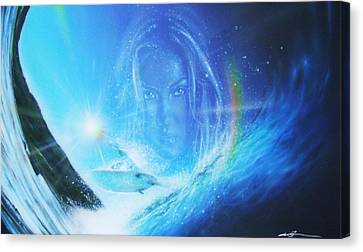 Surfing Art Canvas Print - Into The Void by Christian Chapman Art