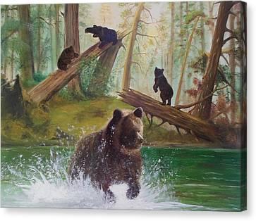 Into The Wild Canvas Print by Chris Lambert