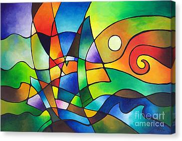 Into The Wind Canvas Print by Sally Trace