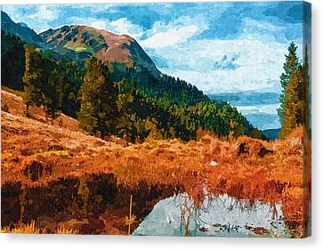 Into The Woods Canvas Print by Ayse Deniz