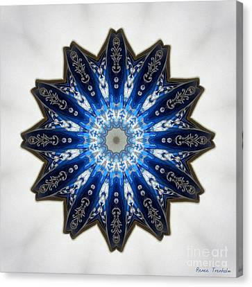 Intricate Shades Of Blue Canvas Print by Renee Trenholm