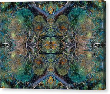 Intrigue Of Mystery Three Of Four Canvas Print by Betsy Knapp