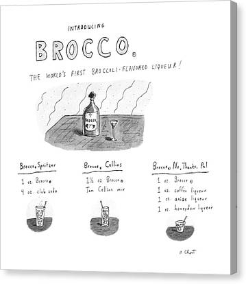 Introducing Brocco. The World's First Canvas Print by Roz Chast