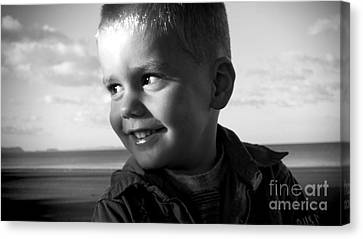 Introducing Max Canvas Print by Karen Lewis