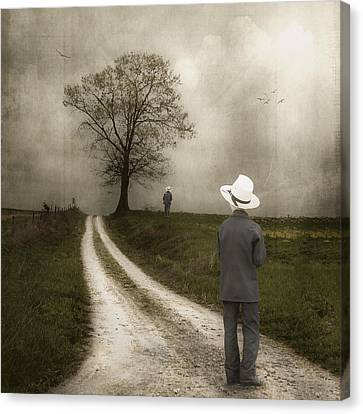 Dirt Canvas Print - Introspection by Tom Mc Nemar