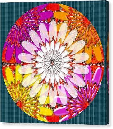 Intuitive Chakra Yoga Meditation Background Designs  And Color Tones N Color Shades Available For Do Canvas Print by Navin Joshi