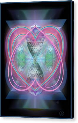 Intwined Hearts Chalice Enveloping Orbs Vortex Fired Canvas Print by Christopher Pringer
