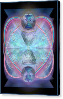 Intwined Hearts Chalice Shimmering Turquoise Vortexes Canvas Print by Christopher Pringer