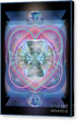 Intwined Hearts Chalice Wings Of Vortexes Radiant Deep Synthesis Canvas Print by Christopher Pringer