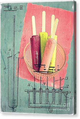 Cream Canvas Print - Invention Of The Ice Pop by Edward Fielding