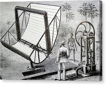 Reflecting Water Canvas Print - Inventor John Ericsson's Machine by Universal History Archive/uig