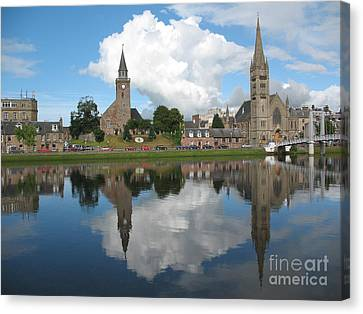 Canvas Print featuring the photograph Inverness Highlands Of Scotland by Jacqi Elmslie