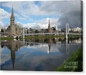 Canvas Print featuring the photograph Inverness Riverscape by Jacqi Elmslie
