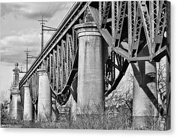 Inverted Bw Canvas Print by JC Findley