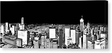 Inverted Central Park View Canvas Print by Az Jackson