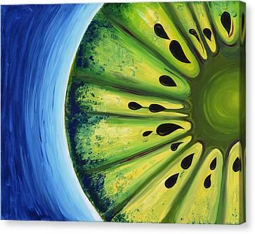 Inverted Kiwi Canvas Print by Alexandra Kushman