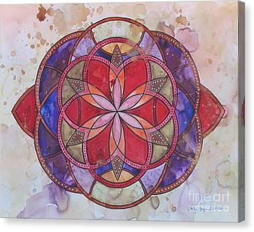 Invictus Mandala Canvas Print by Holly Burger