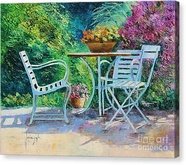 Garden Canvas Print - Invitation To The Garden by Jean-Marc Janiaczyk