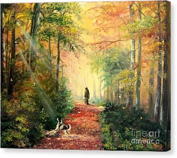 Invitation To Walk   Canvas Print by Sorin Apostolescu
