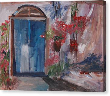 Inviting Doorway Canvas Print by Michael Helfen