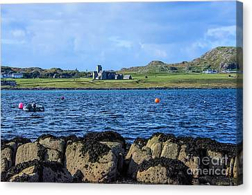 Iona Abbey Isle Of Iona Canvas Print by Chris Thaxter