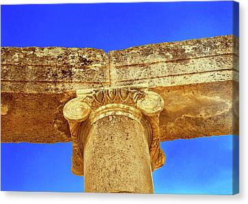 Ionic Column Oval Plaza Ancient Roman Canvas Print