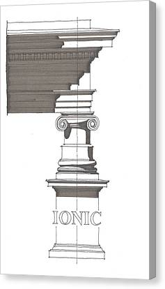 Ionic Order Canvas Print by Calvin Durham