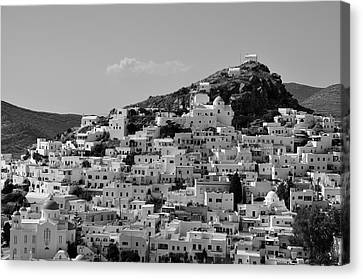 Houses Canvas Print - Ios Town by George Atsametakis