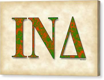 Iota Nu Delta - Parchment Canvas Print by Stephen Younts