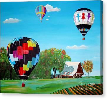 Iowa Balloons Canvas Print