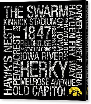 Mascots Canvas Print - Iowa College Colors Subway Art by Replay Photos