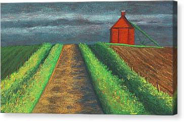 Iowa Country Road Canvas Print