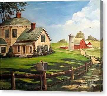 Iowa Farm Canvas Print by Lee Piper