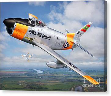 Iowa Guardian Canvas Print by Stu Shepherd