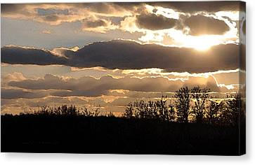 Canvas Print featuring the digital art Iowa Sunset by Kirt Tisdale