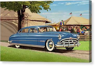 iPhone - Galaxy Case - 1951 Hudson Hornet fair americana antique car auto Canvas Print by Walt Curlee