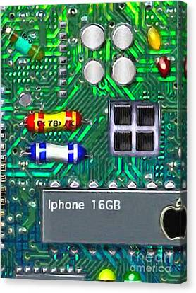 Iphone I-art Canvas Print by Wingsdomain Art and Photography