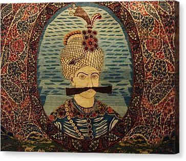Iran King Abbas Carpet Museum Tehran Canvas Print by Lois Ivancin Tavaf