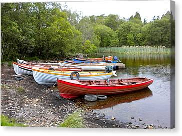 Ireland Boats 2 Canvas Print by Teresa Tilley