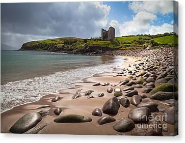 Ireland - Castle Minard Canvas Print by Juergen Klust
