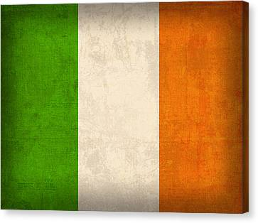Ireland Flag Vintage Distressed Finish Canvas Print by Design Turnpike