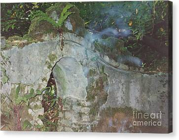 Ireland Ghostly Grave Canvas Print by First Star Art