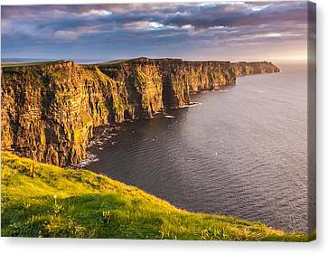 Cliffs Of Moher Canvas Print - Ireland's Iconic Landmark The Cliffs Of Moher by Pierre Leclerc Photography