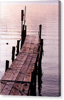 Canvas Print featuring the photograph Irene's Dock by Susan Crossman Buscho