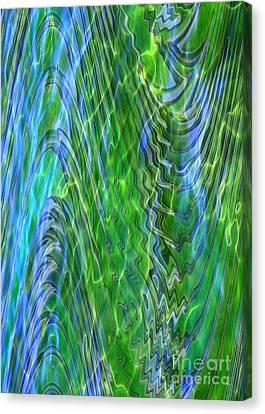 Abstract Art On Canvas Print - Iridescence by Carol Groenen